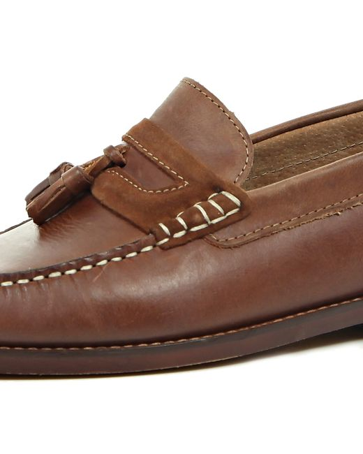River Island Leather Loafers With Tassel