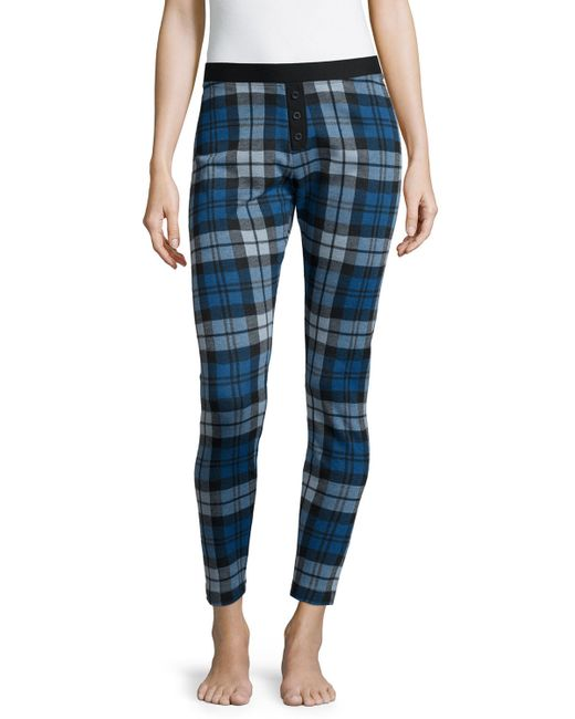 Ugg Whitney Plaid Cotton-Blend Leggings in Blue (BLUE JAY PLAID) - Save 61% | Lyst