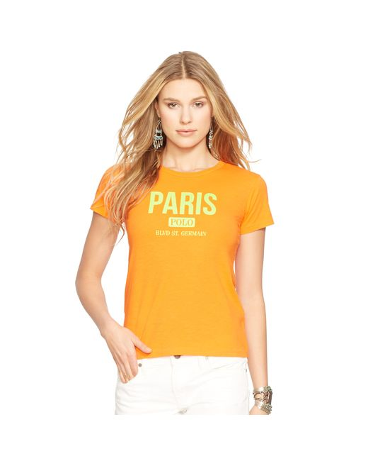 Polo Ralph Lauren | Orange Flagship Cotton Tee | Lyst