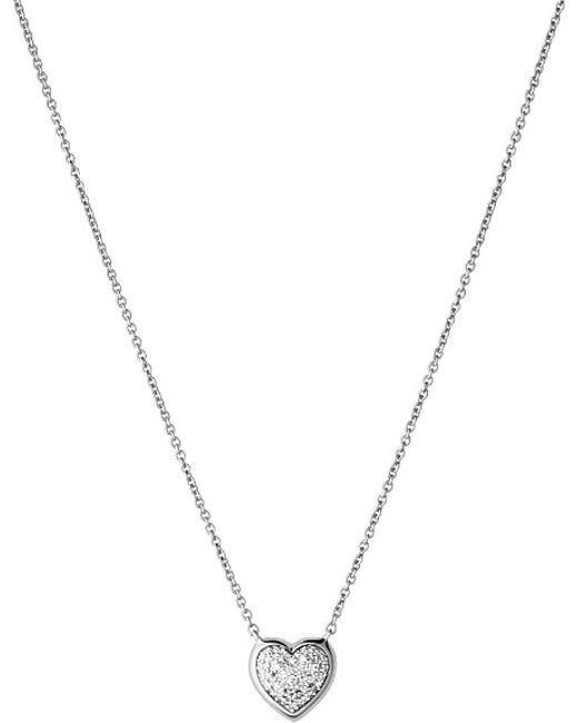 Links of London | Metallic Diamond Essentials Heart Pave Sterling Silver Necklace | Lyst