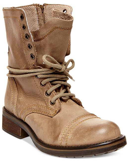 Steve madden Tropa 2.0 Combat Boots in Beige (Stone ... Steve Madden Combat Boots Men