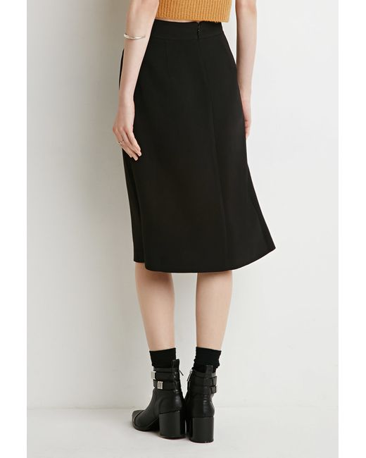 Forever 21 | Black Inverted Pleat A-line Skirt | Lyst