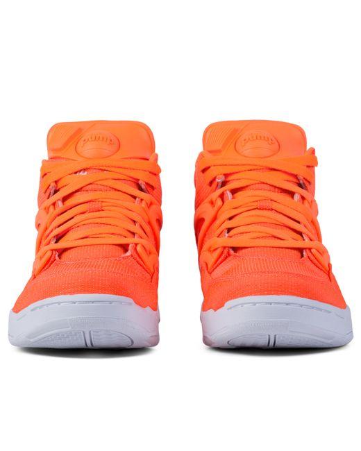reebok orange pump omni lite tech sneakers in orange for men save 60 lyst. Black Bedroom Furniture Sets. Home Design Ideas