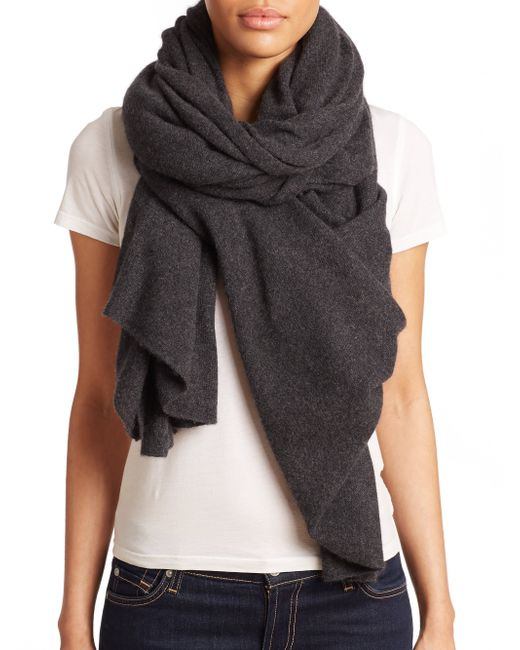 White + Warren | Gray Cashmere Travel Wrap | Lyst