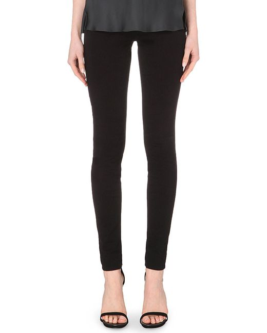 J Brand | Black 485 Luxe Sateen Super-skinny Mid-rise Jeans | Lyst
