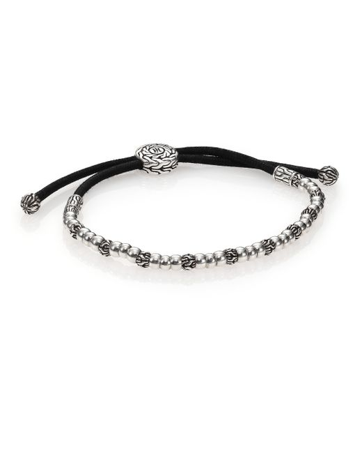 John Hardy | Metallic Classic Chain Silver Beaded Bracelet | Lyst
