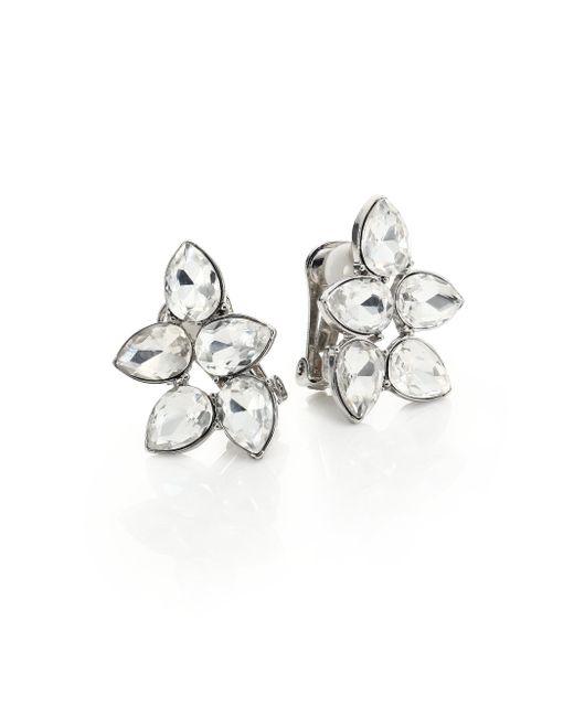 Kenneth Jay Lane | Metallic Teardrop Cluster Clip Earrings | Lyst