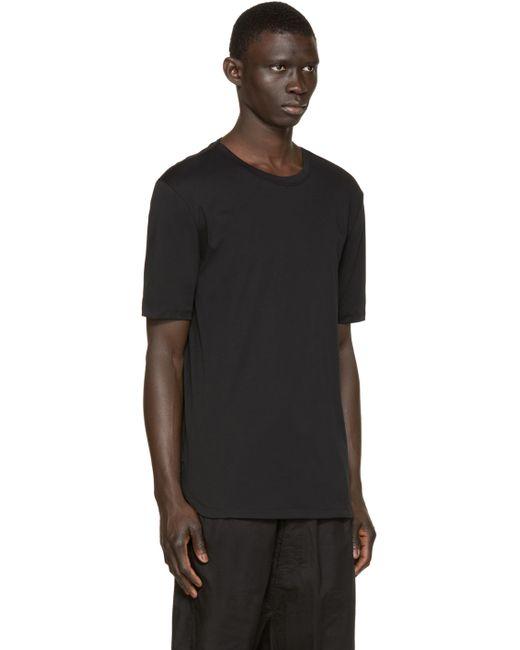 Helmut lang black cotton t shirt in black for men lyst for Helmut lang t shirt