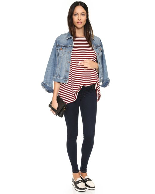 James Jeans | Blue Twiggy Maternity Under Belly Pull On Jeans | Lyst