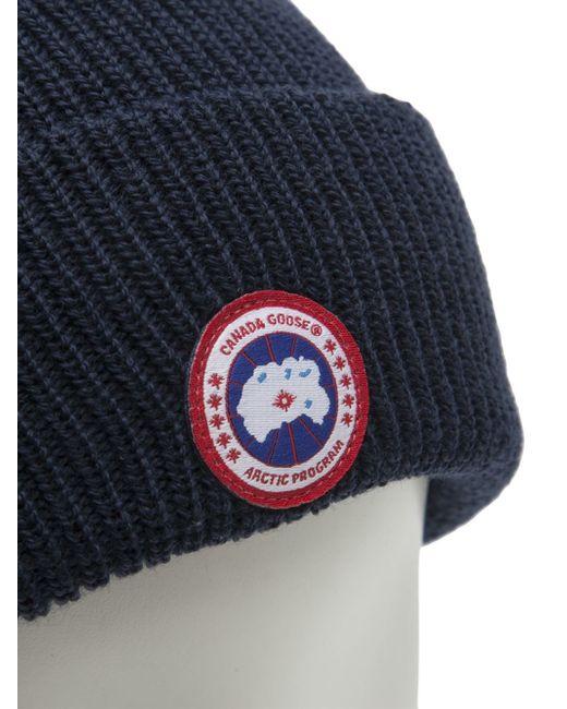 Canada Goose chilliwack parka sale price - Canada goose Merino Beanie Cap in Blue for Men | Lyst