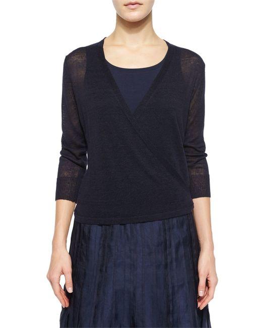 NIC+ZOE   Blue 4-way Linen-blend Knit Cardigan   Lyst