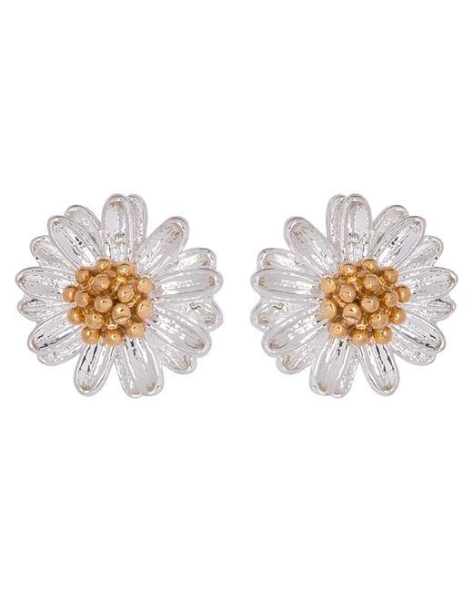 Estella Bartlett | Metallic Mini Wildflower Silver Plated Earrings | Lyst
