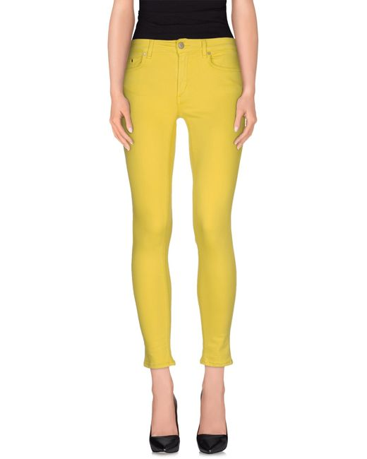Dondup | Yellow Denim Trousers | Lyst