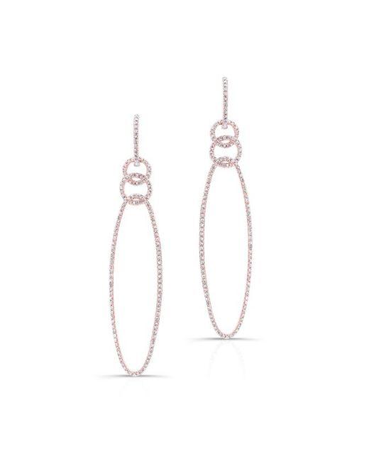 Anne Sisteron | Pink 14kt Rose Gold Diamond Chain Link Oval Drop Earrings | Lyst