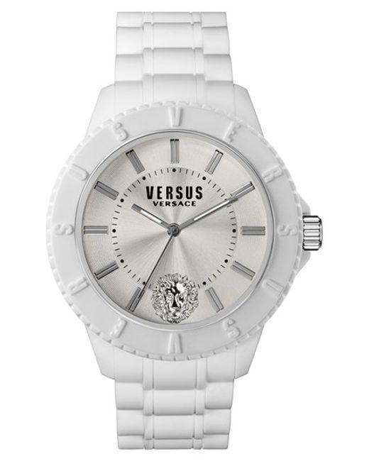 Versus | White 'tokyo' Rubber Strap Watch | Lyst