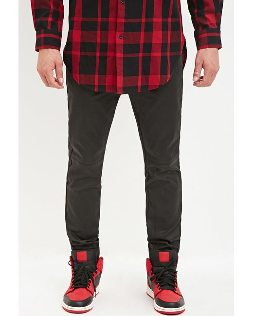 Forever 21   Black Coated Chino Joggers for Men   Lyst