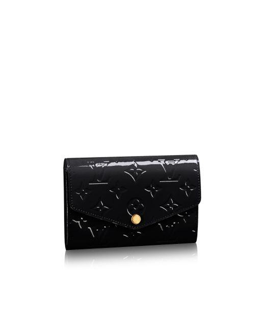 Louis Vuitton | Black Sarah Compact Wallet | Lyst