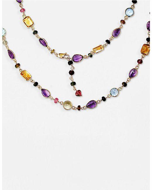 Effy | Blue Semi-precious, Multi-stone 14k Gold Necklace | Lyst