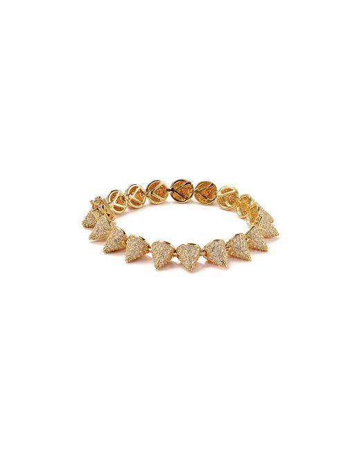 Eddie Borgo | Gold Pavé 17 Cone Bracelet | Lyst