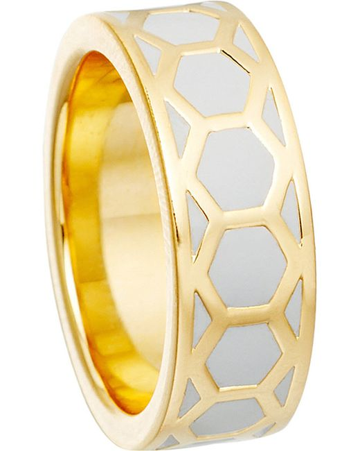 Astley Clarke   Gray Moonlight Honeycomb Ring   Lyst