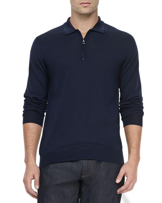 Womens Sweater Navy Zip 30