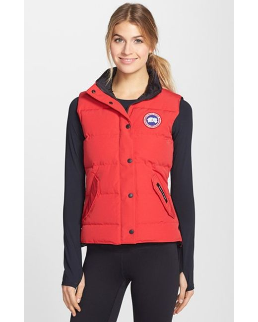 Canada Goose montebello parka outlet store - Canada goose 'freestyle' Slim Fit Down Vest in Red | Lyst