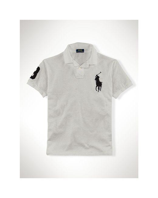 Polo Ralph Lauren | Black Slim-fit Big Pony Polo Shirt for Men | Lyst