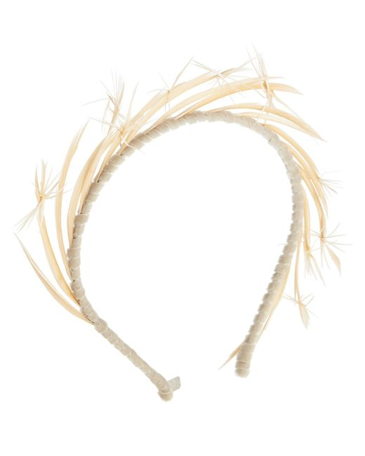 Gigi Burris Millinery | Brown Lyra Feather Headband | Lyst