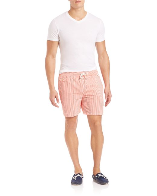 Polo Ralph Lauren Seersucker Traveler Swim Shorts In