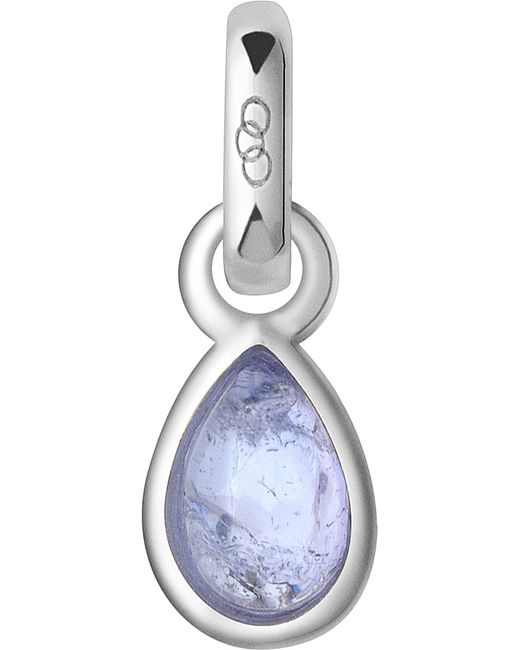 Links of London   Blue December Sterling Silver And Tanzanite Mini Birthstone Charm   Lyst