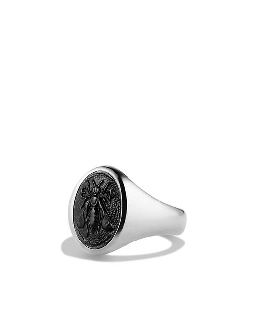 David Yurman | Petrvs Bee Signet Ring With Black Onyx for Men | Lyst