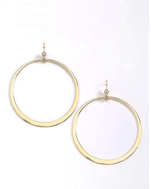abs by allen schwartz large hoop drop earrings in gold lyst