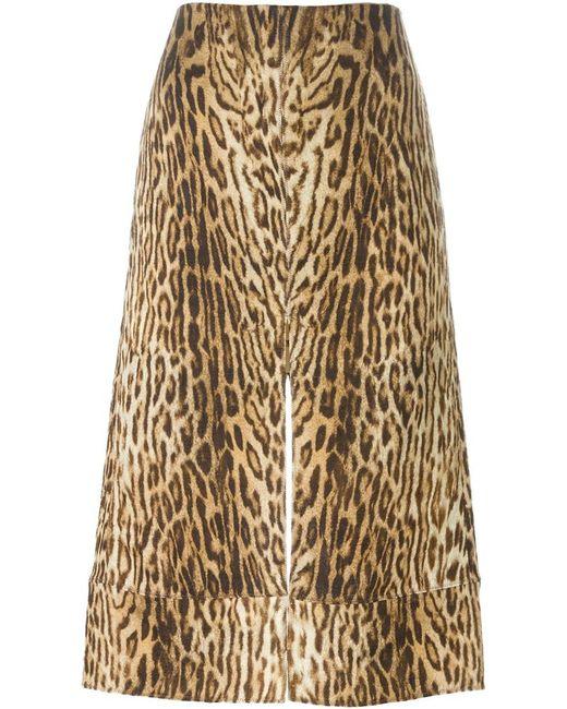 chlo 233 leopard print skirt in animal blue lyst
