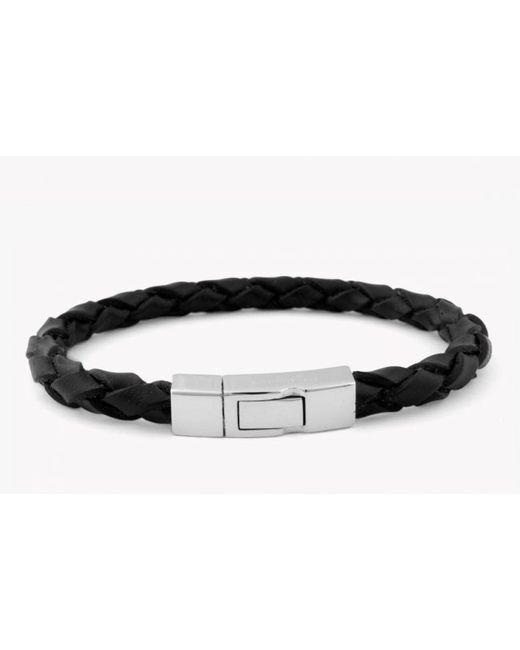 Tateossian | Black Macrame Meteorite Bracelet With 3 Silver Beads for Men | Lyst
