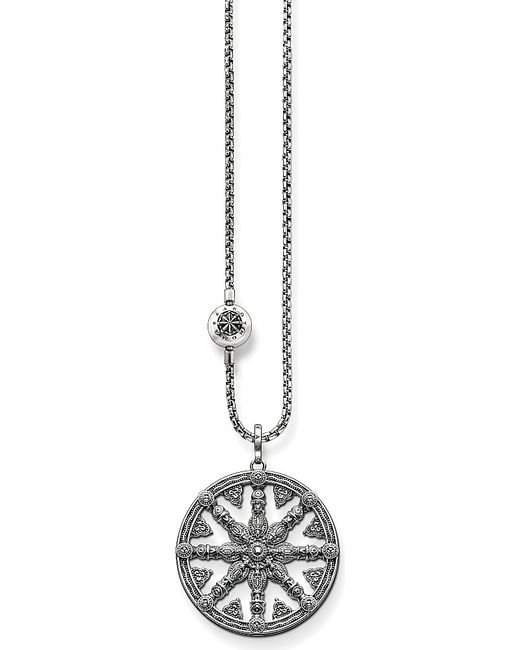 Thomas Sabo | Metallic Karma Beads Wheel Of Karma Sterling Silver Necklace | Lyst