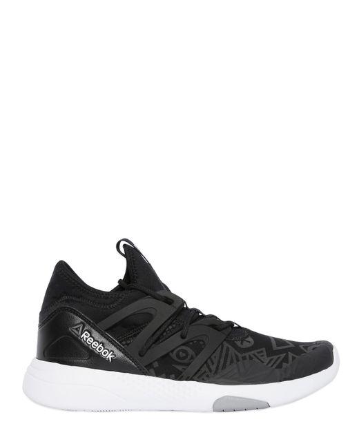 Reebok Hayasu Studio Dance Sneakers In Black Black White