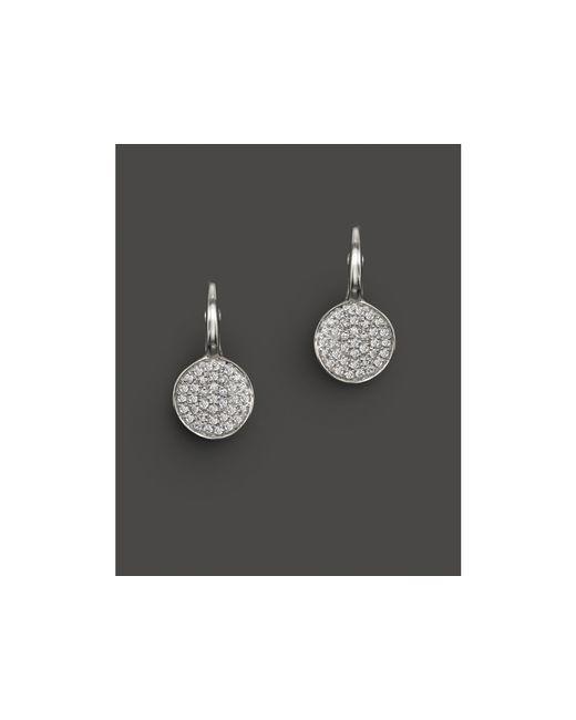 KC Designs | Diamond Disk Drop Earrings In 14k White Gold, .22 Ct. T.w. | Lyst