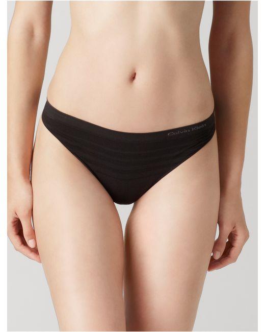 Calvin Klein | Black Underwear Second Skin Seamless Ombre Thong | Lyst