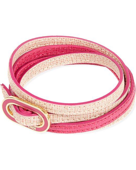 Fendi | Pink Double-wrap Thin Bracelet | Lyst
