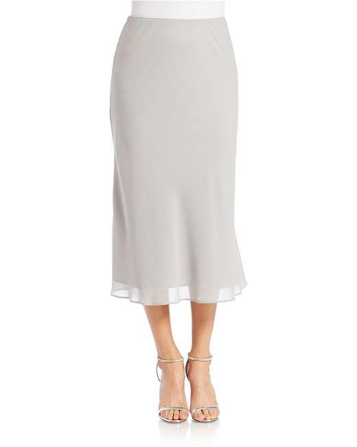Alex Evenings | Metallic Georgette A Line Skirt | Lyst