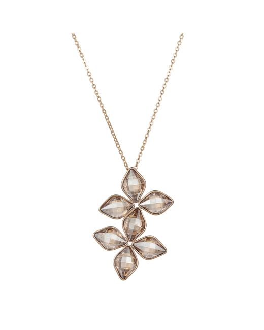 Aurora | Metallic Double Flower Pendant | Lyst