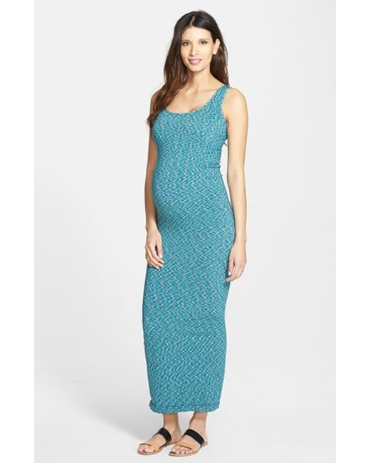 Tees by Tina | Green Marled Maxi Maternity Dress | Lyst