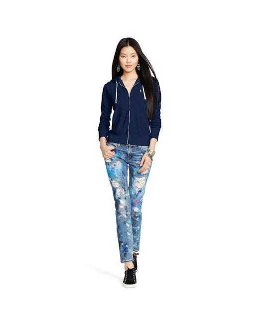 Polo Ralph Lauren | Blue Pony Full-zip Hoodie | Lyst