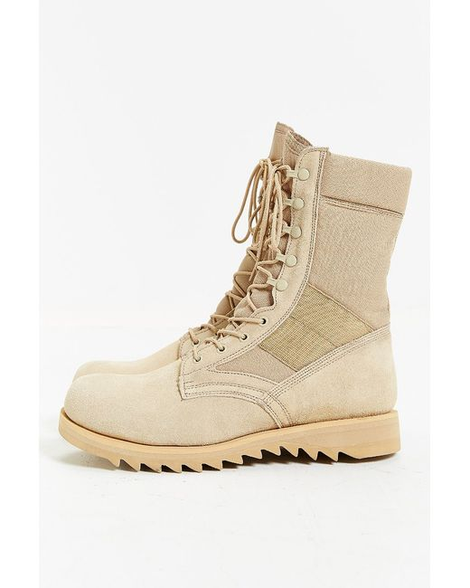 rothco suede ripple sole jungle boot in brown for