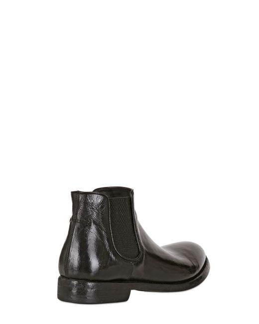 alberto fasciani evita buffalo leather ankle boots in black lyst. Black Bedroom Furniture Sets. Home Design Ideas