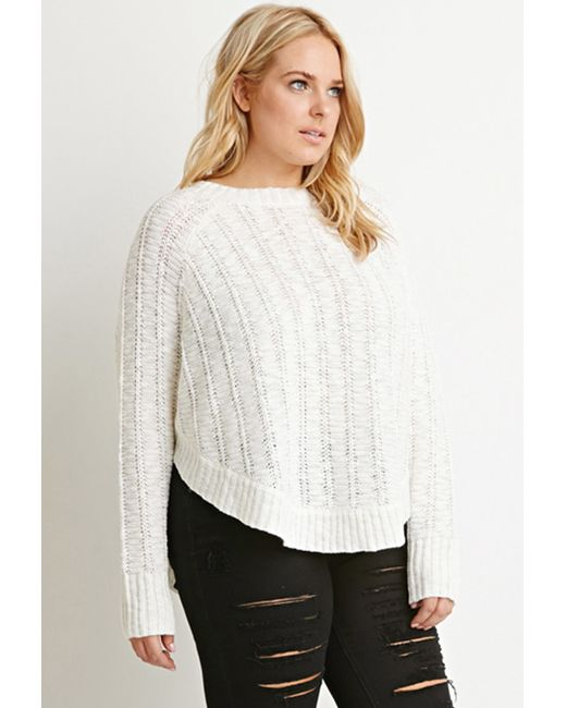 Forever 21   Natural Plus Size Loose Knit Dolman Sweater   Lyst