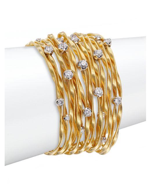 Marco Bicego | Metallic Marrekech Diamond & 18k Yellow Gold Multi-strand Bracelet | Lyst