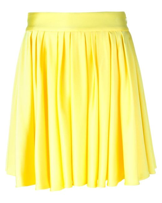 fausto puglisi pleated mini skirt in yellow yellow