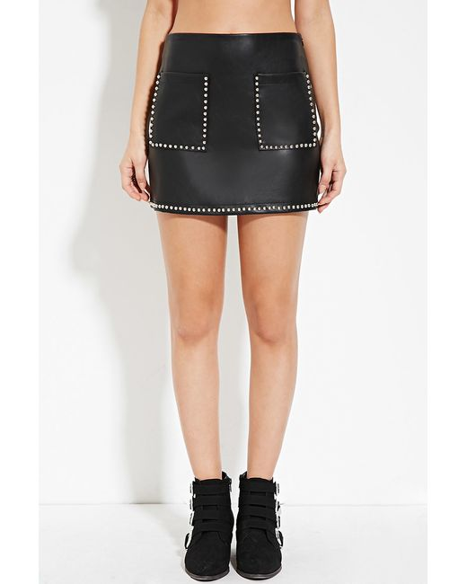 forever 21 studded faux leather skirt you ve been added to