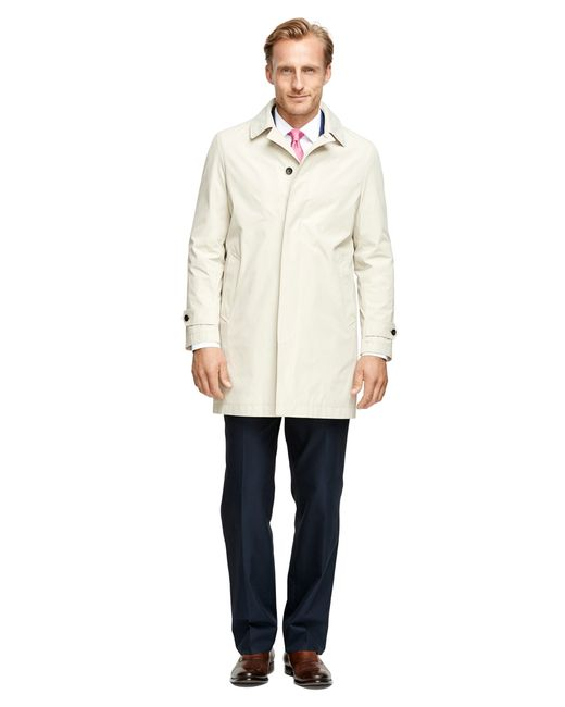 Brooks Brothers | Natural Lightweight Short Raincoat for Men | Lyst